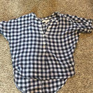 Plaid shirt.